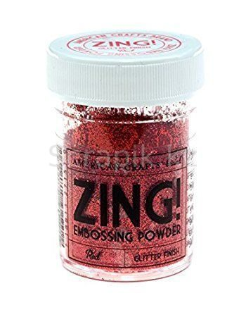 Zing Red-glitter finish