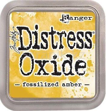 Distress oxide- Fossilized amber