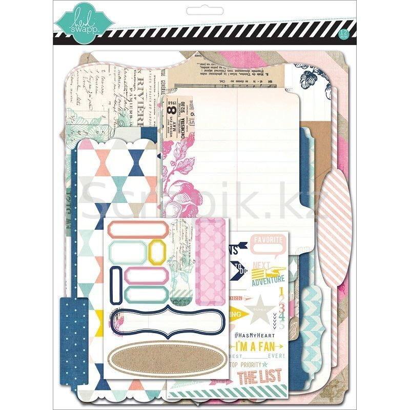 Scrapbook kit ( 4 мемори файла, 10 стикеров, 25 натирок)